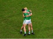 13 December 2020; Kyle Hayes, left, and Tom Morrissey of Limerick celebrate after the GAA Hurling All-Ireland Senior Championship Final match between Limerick and Waterford at Croke Park in Dublin. Photo by Daire Brennan/Sportsfile