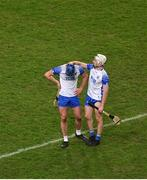 13 December 2020; Conor Prunty of Waterford, left, is consoled by team-mate Shane McNulty after the GAA Hurling All-Ireland Senior Championship Final match between Limerick and Waterford at Croke Park in Dublin. Photo by Daire Brennan/Sportsfile