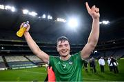 13 December 2020; Kyle Hayes of Limerick celebrates following the GAA Hurling All-Ireland Senior Championship Final match between Limerick and Waterford at Croke Park in Dublin. Photo by David Fitzgerald/Sportsfile