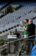 13 December 2020; Limerick captain Declan Hannon kisses the Liam MacCarthy Cup before lifting it after the GAA Hurling All-Ireland Senior Championship Final match between Limerick and Waterford at Croke Park in Dublin. Photo by Piaras Ó Mídheach/Sportsfile