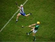 13 December 2020; Séamus Flanagan of Limerick in action against Jack Fagan of Waterford during the GAA Hurling All-Ireland Senior Championship Final match between Limerick and Waterford at Croke Park in Dublin. Photo by Daire Brennan/Sportsfile