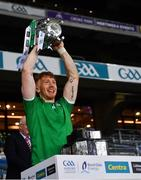 13 December 2020; Cian Lynch of Limerick lifts the Liam MacCarthy Cup after the GAA Hurling All-Ireland Senior Championship Final match between Limerick and Waterford at Croke Park in Dublin. Photo by Ray McManus/Sportsfile