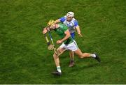 13 December 2020; Dan Morrissey of Limerick in action against Dessie Hutchinson of Waterford during the GAA Hurling All-Ireland Senior Championship Final match between Limerick and Waterford at Croke Park in Dublin. Photo by Daire Brennan/Sportsfile