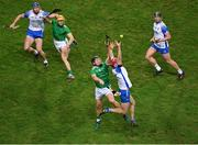 13 December 2020; Calum Lyons of Waterford in action against Peter Casey of Limerick during the GAA Hurling All-Ireland Senior Championship Final match between Limerick and Waterford at Croke Park in Dublin. Photo by Daire Brennan/Sportsfile