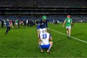 13 December 2020; Nickie Quaid of Limerick consoles Dessie Hutchinson of Waterford after the the GAA Hurling All-Ireland Senior Championship Final match between Limerick and Waterford at Croke Park in Dublin. Photo by Piaras Ó Mídheach/Sportsfile