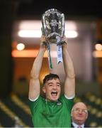 13 December 2020; Kyle Hayes of Limerick lifts the Liam MacCarthy Cup following the GAA Hurling All-Ireland Senior Championship Final match between Limerick and Waterford at Croke Park in Dublin. Photo by Ramsey Cardy/Sportsfile