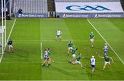 13 December 2020; Stephen Bennett of Waterford has his effort on goal closed down during the GAA Hurling All-Ireland Senior Championship Final match between Limerick and Waterford at Croke Park in Dublin. Photo by Stephen McCarthy/Sportsfile