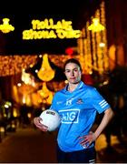 15 December 2020; Dublin captain Sinéad Aherne on Dublin's Grafton Street ahead of next Sunday's TG4 All-Ireland Ladies Senior Football Championship Final. The 2020 TG4 All-Ireland Senior Final will be contested by Dublin and Cork at Croke Park in Dublin – throw-in time 3.30m. The game is available to view live on TG4 and worldwide on the TG4 player: http://bit.ly/37oJ7a1 #ProperFan. Photo by David Fitzgerald/Sportsfile