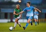 12 December 2020; Dearbhaile Beirne of Peamount United in action against Sophie Liston of Cork City during the FAI Women's Senior Cup Final match between Cork City and Peamount United at Tallaght Stadium in Dublin. Photo by Eóin Noonan/Sportsfile