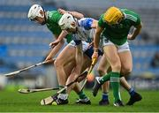 13 December 2020; Aaron Gillane, left, and Séamus Flanagan of Limerick in action against Shane McNulty, front, and Conor Prunty of Waterford during the GAA Hurling All-Ireland Senior Championship Final match between Limerick and Waterford at Croke Park in Dublin. Photo by Piaras Ó Mídheach/Sportsfile