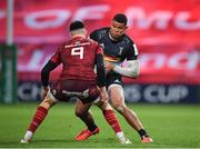 13 December 2020; Nathan Earle of Harlequins in action against Conor Murray of Munster during the Heineken Champions Cup Pool B Round 1 match between Munster and Harlequins at Thomond Park in Limerick. Photo by Seb Daly/Sportsfile