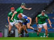 13 December 2020; Jack Prendergast of Waterford is tackled by Kieran Bennett of Waterford during the GAA Hurling All-Ireland Senior Championship Final match between Limerick and Waterford at Croke Park in Dublin. Photo by Brendan Moran/Sportsfile