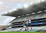 13 December 2020; Conor Prunty, centre, and Tadhg De Búrca of Waterford in action against Aaron Gillane of Limerick during the GAA Hurling All-Ireland Senior Championship Final match between Limerick and Waterford at Croke Park in Dublin. Photo by Ramsey Cardy/Sportsfile