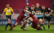 13 December 2020; Scott Steele of Harlequins is tackled by John Ryan, left, and Josh Wycherley of Munster during the Heineken Champions Cup Pool B Round 1 match between Munster and Harlequins at Thomond Park in Limerick. Photo by Seb Daly/Sportsfile