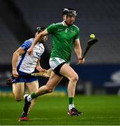 13 December 2020; Diarmaid Byrnes of Limerick races clear of Jamie Barron of Waterford during the GAA Hurling All-Ireland Senior Championship Final match between Limerick and Waterford at Croke Park in Dublin. Photo by Ray McManus/Sportsfile