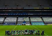 13 December 2020; Limerick players and officials celebrate with the Liam MacCarthy Cup following the GAA Hurling All-Ireland Senior Championship Final match between Limerick and Waterford at Croke Park in Dublin. Photo by Stephen McCarthy/Sportsfile