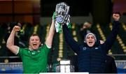 13 December 2020; Brothers Peter, left, and Mike Casey of Limerick lift the Liam MacCarthy Cup following the GAA Hurling All-Ireland Senior Championship Final match between Limerick and Waterford at Croke Park in Dublin. Photo by Stephen McCarthy/Sportsfile