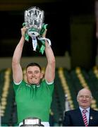 13 December 2020; Gearóid Hegarty of Limerick lifts the Liam MacCarthy Cup following the GAA Hurling All-Ireland Senior Championship Final match between Limerick and Waterford at Croke Park in Dublin. Photo by Stephen McCarthy/Sportsfile