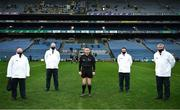 13 December 2020; Referee Fergal Horgan and his umpires before the GAA Hurling All-Ireland Senior Championship Final match between Limerick and Waterford at Croke Park in Dublin. Photo by Ray McManus/Sportsfile