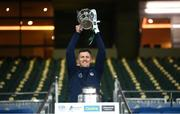 13 December 2020; Limerick selector Donal O'Grady lifts the Liam MacCarthy Cup following the GAA Hurling All-Ireland Senior Championship Final match between Limerick and Waterford at Croke Park in Dublin. Photo by Stephen McCarthy/Sportsfile