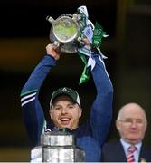 13 December 2020; Limerick strength and conditioning coach Mikey Kiely lifts the Liam MacCarthy Cup following the GAA Hurling All-Ireland Senior Championship Final match between Limerick and Waterford at Croke Park in Dublin. Photo by Ramsey Cardy/Sportsfile