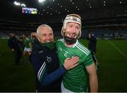 13 December 2020; Cian Lynch and Limerick liason officer Conor McCarthy celebrate following the GAA Hurling All-Ireland Senior Championship Final match between Limerick and Waterford at Croke Park in Dublin. Photo by Stephen McCarthy/Sportsfile