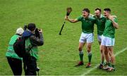 13 December 2020; Limerick players, from left, Pat Ryan, Richie English and Darragh O'Donovan pose for local photographers following the GAA Hurling All-Ireland Senior Championship Final match between Limerick and Waterford at Croke Park in Dublin. Photo by Stephen McCarthy/Sportsfile