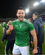 13 December 2020; Dan Morrissey of Limerick celebrates following the GAA Hurling All-Ireland Senior Championship Final match between Limerick and Waterford at Croke Park in Dublin. Photo by Ramsey Cardy/Sportsfile