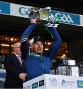 13 December 2020; Limerick strength and conditioning coach Mikey Kiely lifts lifts the Liam MacCarthy Cup following the GAA Hurling All-Ireland Senior Championship Final match between Limerick and Waterford at Croke Park in Dublin. Photo by Ray McManus/Sportsfile