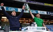 13 December 2020; Club mates Brian Ryan, left, and Barry Nash of Limerick lifts the Liam MacCarthy Cup following the GAA Hurling All-Ireland Senior Championship Final match between Limerick and Waterford at Croke Park in Dublin. Photo by Ray McManus/Sportsfile