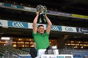 13 December 2020; Gearóid Hegarty of Limerick lifts the Liam MacCarthy Cup following the GAA Hurling All-Ireland Senior Championship Final match between Limerick and Waterford at Croke Park in Dublin. Photo by Ray McManus/Sportsfile