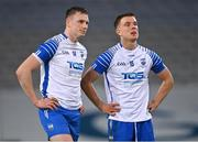 13 December 2020; Waterford players Austin Gleeson, left, and Jack Prendergast dejected after the GAA Hurling All-Ireland Senior Championship Final match between Limerick and Waterford at Croke Park in Dublin. Photo by Piaras Ó Mídheach/Sportsfile