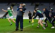 13 December 2020; Limerick coach Paul Kinnerk embraces Limerick manager John Kiely at the final whistle of the GAA Hurling All-Ireland Senior Championship Final match between Limerick and Waterford at Croke Park in Dublin. Photo by Stephen McCarthy/Sportsfile