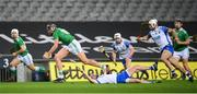 13 December 2020; Gearóid Hegarty of Limerick in action against Conor Gleeson of Waterford during the GAA Hurling All-Ireland Senior Championship Final match between Limerick and Waterford at Croke Park in Dublin. Photo by Stephen McCarthy/Sportsfile