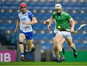 13 December 2020; Cian Lynch of Limerick in action against Tadhg De Búrca of Waterford during the GAA Hurling All-Ireland Senior Championship Final match between Limerick and Waterford at Croke Park in Dublin. Photo by Piaras Ó Mídheach/Sportsfile