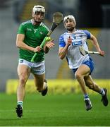 13 December 2020; Kyle Hayes of Limerick in action against Jack Fagan of Waterford during the GAA Hurling All-Ireland Senior Championship Final match between Limerick and Waterford at Croke Park in Dublin. Photo by Piaras Ó Mídheach/Sportsfile