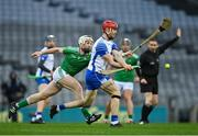 13 December 2020; Tadhg De Búrca of Waterford in action against Cian Lynch of Limerick during the GAA Hurling All-Ireland Senior Championship Final match between Limerick and Waterford at Croke Park in Dublin. Photo by Piaras Ó Mídheach/Sportsfile