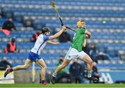 13 December 2020; Tom Morrissey of Limerick in action against Jamie Barron of Waterford during the GAA Hurling All-Ireland Senior Championship Final match between Limerick and Waterford at Croke Park in Dublin. Photo by Piaras Ó Mídheach/Sportsfile