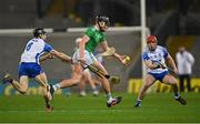 13 December 2020; Gearóid Hegarty of Limerick in action against Jamie Barron, left, and Darragh Lyons of Waterford during the GAA Hurling All-Ireland Senior Championship Final match between Limerick and Waterford at Croke Park in Dublin. Photo by Piaras Ó Mídheach/Sportsfile