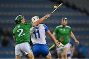 13 December 2020; Seán Finn of Limerick gathers possession ahead of Neil Montgomery of Waterford during the GAA Hurling All-Ireland Senior Championship Final match between Limerick and Waterford at Croke Park in Dublin. Photo by Piaras Ó Mídheach/Sportsfile