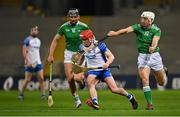 13 December 2020; Darragh Lyons of Waterford in action against Gearóid Hegarty, left, and Pat Ryan of Limerick during the GAA Hurling All-Ireland Senior Championship Final match between Limerick and Waterford at Croke Park in Dublin. Photo by Piaras Ó Mídheach/Sportsfile