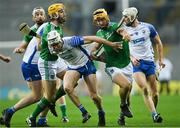 13 December 2020; Tom Morrissey of Limerick in action against Shane McNulty of Waterford during the GAA Hurling All-Ireland Senior Championship Final match between Limerick and Waterford at Croke Park in Dublin. Photo by Piaras Ó Mídheach/Sportsfile