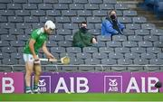 13 December 2020; Stadium medics look on as Aaron Gillane of Limerick prepares to take a free during the GAA Hurling All-Ireland Senior Championship Final match between Limerick and Waterford at Croke Park in Dublin. Photo by Piaras Ó Mídheach/Sportsfile