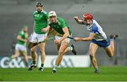 13 December 2020; Kyle Hayes of Limerick in action against Calum Lyons of Waterford during the GAA Hurling All-Ireland Senior Championship Final match between Limerick and Waterford at Croke Park in Dublin. Photo by Piaras Ó Mídheach/Sportsfile