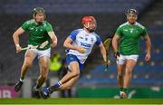 13 December 2020; Jack Prendergast of Waterford in action against William O'Donoghue, left, and Darragh O'Donovan of Limerick during the GAA Hurling All-Ireland Senior Championship Final match between Limerick and Waterford at Croke Park in Dublin. Photo by Brendan Moran/Sportsfile