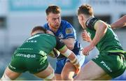 12 December 2020; David Hawkshaw of Leinster A is tackled by Oisin McCormack of Connacht Eagles during the A Interprovincial Friendly match between Leinster A and Connacht Eagles at Energia Park in Dublin. Photo by Ramsey Cardy/Sportsfile