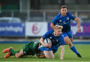 12 December 2020; Jamie Osborne of Leinster A is tackled by Colm de Buitlear of Connacht Eagles during the A Interprovincial Friendly match between Leinster A and Connacht Eagles at Energia Park in Dublin. Photo by Ramsey Cardy/Sportsfile