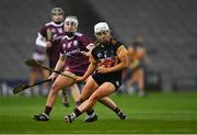 12 December 2020; Meighan Farrell of Kilkenny in action against Ailish O'Reilly of Galway during the Liberty Insurance All-Ireland Senior Camogie Championship Final match between Galway and Kilkenny at Croke Park in Dublin. Photo by Piaras Ó Mídheach/Sportsfile