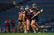 12 December 2020; Collette Dormer of Kilkenny in action against Niamh Hanniffy of Galway during the Liberty Insurance All-Ireland Senior Camogie Championship Final match between Galway and Kilkenny at Croke Park in Dublin. Photo by Piaras Ó Mídheach/Sportsfile