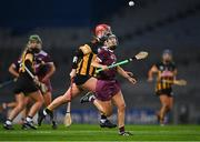 12 December 2020; Aoife Donohue of Galway in action against Kellyann Doyle of Kilkenny during the Liberty Insurance All-Ireland Senior Camogie Championship Final match between Galway and Kilkenny at Croke Park in Dublin. Photo by Piaras Ó Mídheach/Sportsfile